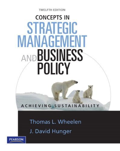 Pdf Concepts In Strategic Management Business Policy 12th