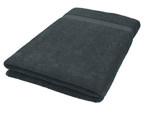 Betz Badetuch XXL Größe 100x200 cm 100% Baumwolle Saunatuch Handtuch Palermo Farbe anthrazit