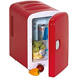 Mini réfrigérateur rouge avec prise 12V et 240V Hot And Cool