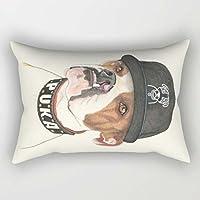 Perros manta funda de almohada 16x 24pulgadas/40por 60cm para silla suelo hogar oficina café casa Pub Club con doble lados