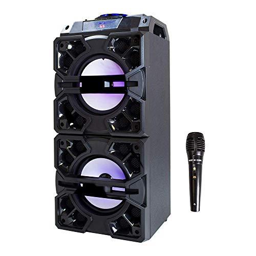 Music Life Altavoz Bluetooth Karaoke Inalámbrico con Micrófono Radio FM Portátil USB TF Card Recargable con Mando