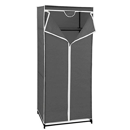 Maurer 21030600tessuto armadio pieghevole, tnt, 70x 45x 160cm, colore: grigio