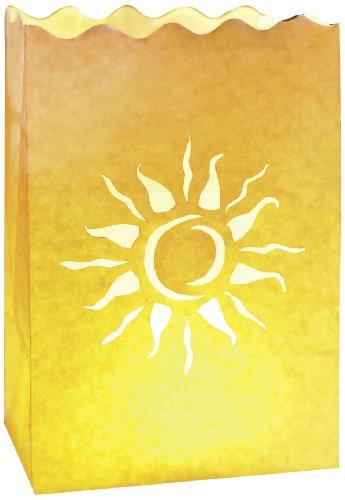 Preisvergleich Produktbild LUMINARIA 8543100 Lichtertüte Sonnenstrahlen klein - 10er Set, Windlicht, Papier, 11 x 16 x 9 cm, Weiß