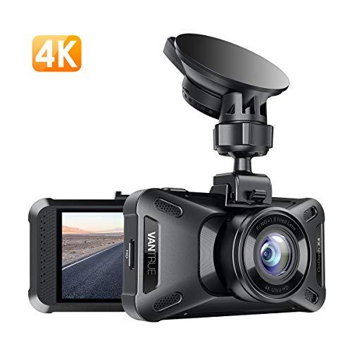 VANTRUE X4 UHD 4K 3840x 2160P Dashcam, 3 Zoll LCD Superkondensator Auto Kamera, 24 Std. Parküberwachung mit 160° Winkel, WDR Nachtsicht Dash Cam Car, Autokamera mit G Sensor, Zeitraffer, Max. 256GB