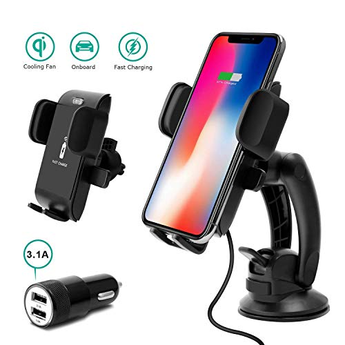 Caricatore Wireless, Caricatore Wireless Auto, Caricabatteria Wireless  Auto, Ricarica Wireless Compatible with iPhone, Android Auto Wireless