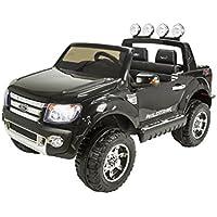 RunRunToys RunRunToys-4005 Coche 4x4 Ford Ranger 12V Negro Licenciado Biplaza con Apertura de Puertas para Niños Mayores de 3 años, Color (4005)