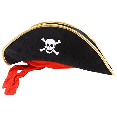 Costume Pirate Hat - Deguisement Chapeau de Pirates des caraibes noir