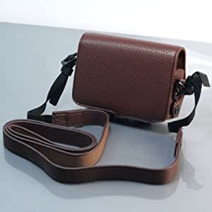 (Brown) PU Leather Camera Case for RICOH CX5 (1318-2)