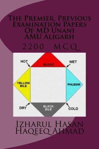 Preisvergleich Produktbild The Premier, Previous Examination Papers Of MD Unani AMU Aligarh: MCQ 2200 with answers key
