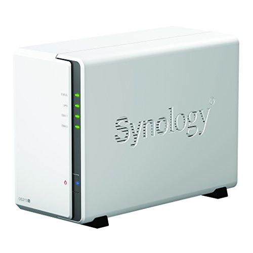 Synology DiskStation DS216 - Dispositivo de almacenamiento en red (512 MB, 2 puertos USB 3.0, 1 puerto LAN Gigabit), color blanco width=