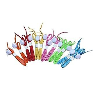 Asenart ® LED Nylon Schnürsenkel leuchten Schnürsenkel Nacht glühend Schuhschnüre mit 3 Modi Disco Blitz Beleuchtung der Nacht für Party Hip-Hop Tanzen Radfahren Wandern Skaten (6 Paare)