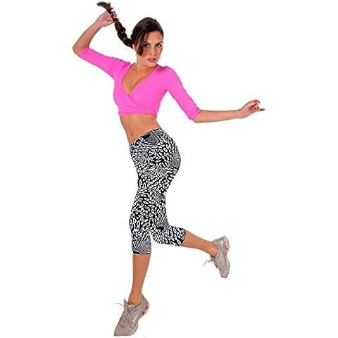 Fortan Nuove donne vita alta fitness Yoga Sport Pantaloni stampati Stretch ritagliata