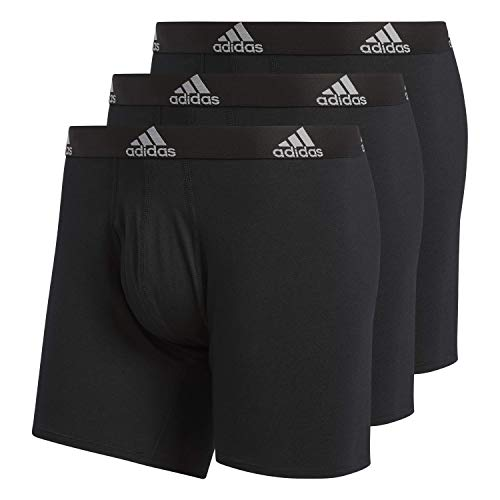 adidas Herren Men's Stretch Cotton Boxer Brief (3-Pack) Unterwäsche, Black, Large - Cotton Boxer Briefs