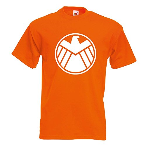 KIWISTAR - Agents of S.H.I.E.L.D. T-Shirt in 15 verschiedenen Farben - Herren Funshirt bedruckt Design Sprüche Spruch Motive Oberteil Baumwolle Print Größe S M L XL XXL (Orange Agent T-shirt)