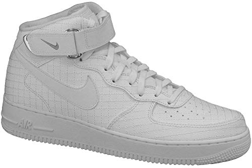 purchase cheap e3220 87a0d Nike Air Force 1 Mid  07 LV8, Scarpe da Basket Uomo, Bianco (