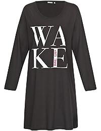 Nachthemd Damen Pagani Schlafhemd Schlaf Shirt aus 100% Baumwolle Gr. S M L XL