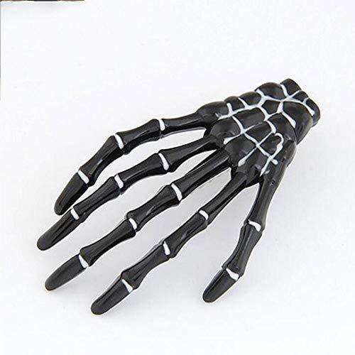 s Skeleton Claws Haarspangen Schädel Hand Haarnadel Punk Haarschmuck für Frauen Mädchen (Farbe : SCHWARZ) ()