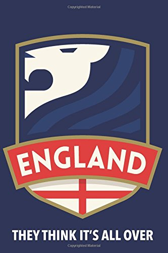 They Think It's All Over: England Notebook for English soccer or football fans (Medium Design with Blank Pages) por Freedom Journals