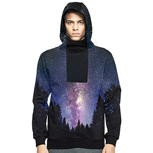 Price comparison product image Men Discount Autumn Casual Daily tops Men's Autumn Winter 3D Wolf Printed Long Sleeve Hooded Sweatshirt Tops Blouse