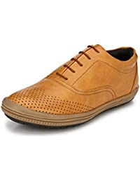 Sir Corbett Men's Synthetic Tan Casual Sneakers