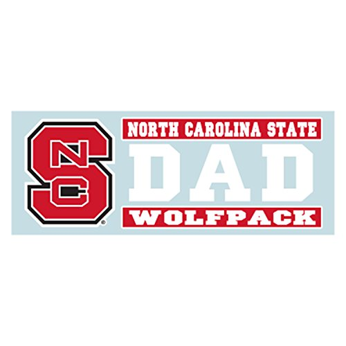 Craftique North Carolina State Aufkleber, Ncs Wolfpack Dad Decal (6''), 6