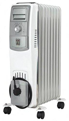 Jocel JI011 013323 Radiador de aceite, 2500 W, Blanco y gris