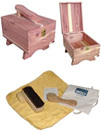Woly Cedar Wood shoe box with Accessories