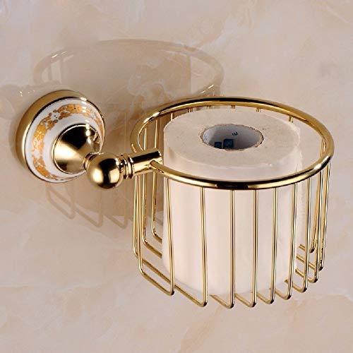 NBE Wc Papier Halter, europäischen Stil Kupfer vergoldet Gold Papiertuch