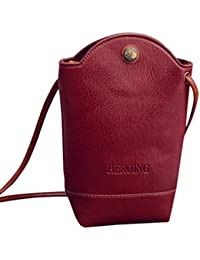 Amlaiworld Bolsas de mensajero de mujer Bolsa de viaje Bolsas de hombro Slim Crossbody Bolso pequeño (Rojo, 11cm*6cm*20cm)