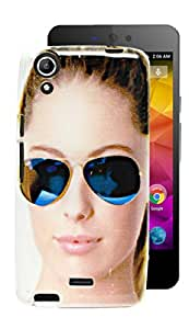 ECellStreet Printed Soft Back Case Cover Back Cover For Micromax Canvas Selfie Lens Q345 - Girl Googles