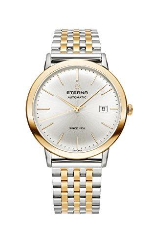 Eterna Eternity Gent Automatik Uhr, SW 200-1, PVD, Silber, 40mm, 2700.53.11.1737