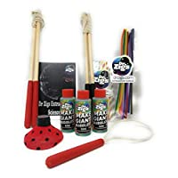Dr Zigs Giant Bubble SCIENCE Kit Great STEM Learning Toy - XL Solution Wands and Toys Booklet with Instructions Experiments and Activities for Kids & Adults Low Plastic. Eco-Friendly. Made in UK