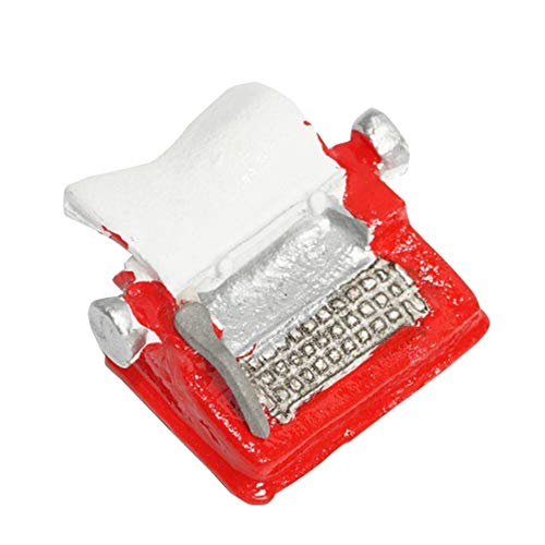 MAJGLGE Madgle, Miniatur-Möbel, Retro-Mini-Schreibmaschine, Spielzeug für 1:12 1:6, Puppenhaus-Accessoires, Rot