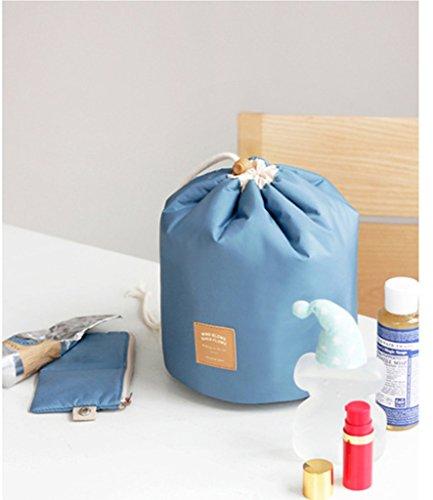 Die neue Weise Reise-Make-up Kosmetik-Tasche der Tasche der Tasche des Artikel Schminktisch antik Box zylindrisch 1pc pink blau