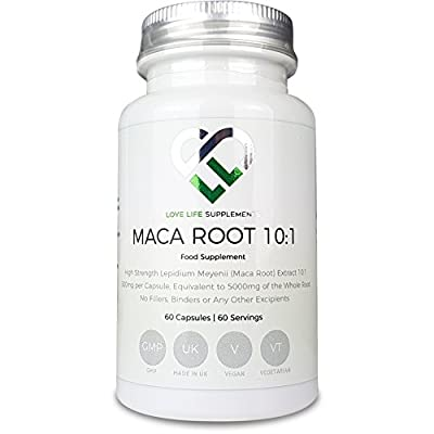 LLS High Strength Maca Root   Direct from Peru   1000mg x 60 Capsules   Produced in the UK under GMP Certification from Love Life Supplements