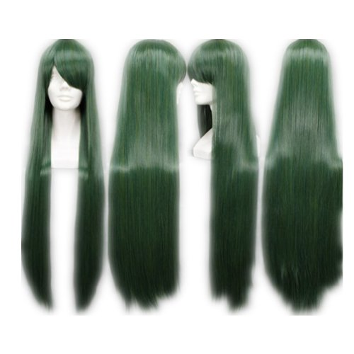 COSPLAZA Cosplay Wig Kostueme Peruecke Sailor Moon Sailor Pluto Lang Gruen Synthetische ()