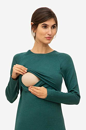 Milker Loma Stillkleid Umstandskleid aus Wolle-Viskose-Strick Jade - 2