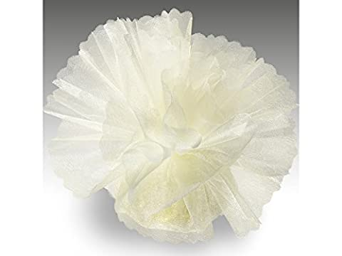 Organza Tulle Circles Crystal Standard Ivory Pack of 50