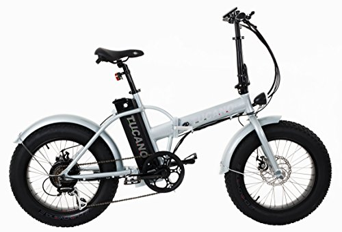 \'Tucano Bikes Monster 20. Bicicletta elettrica 20• motore: 500W-48V • velocità massima: 33km/h • batteria: 48V 12Ah (Argento).
