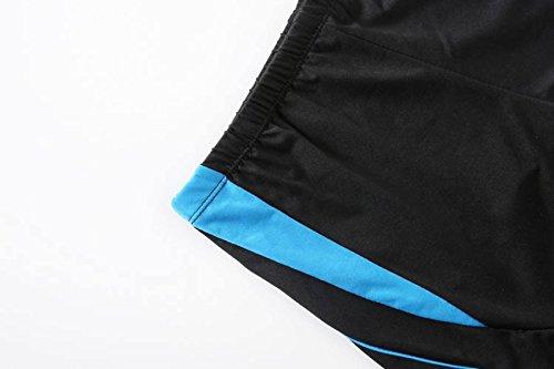 KUWOMINI.Quick Trocknen Flache Winkel Charme Mode Kampffarbe Heiße Quellen Badehose Blue