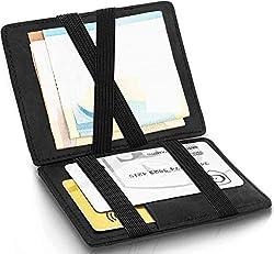 ®  Magic Wallet - Das Original - TÜV geprüfter Schutz - Dünne Geldbörse mit Münzfach - Geschenk für Herren mit Geschenkbox - Smarter Geldbeutel - Slim Portemonnaie | Design Germany
