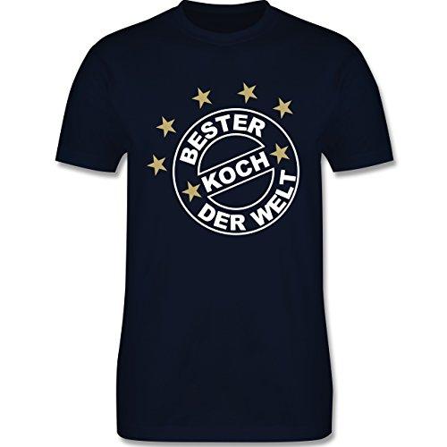 Küche - Bester Koch der Welt - Herren Premium T-Shirt Navy Blau