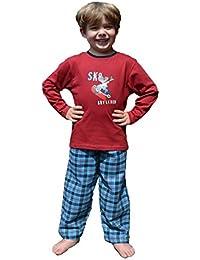 63f791b4cd Jungen Pyjama,Flanell,Zweiteiliger Schlafanzug,100% Baumwolle,Öko-Tex  Standard