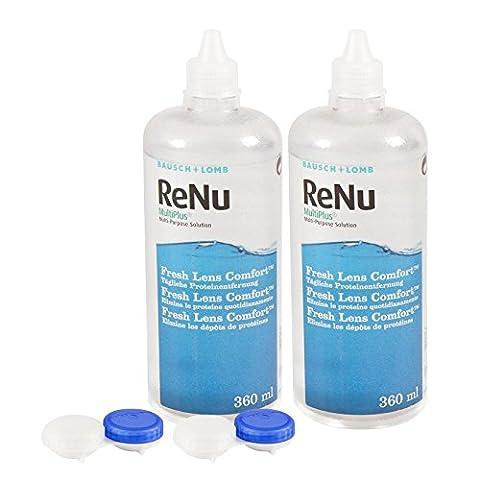 ReNu MultiPlus Pflegemittel für weiche Kontaktlinsen, Twin Box (2 x 360 ml) (Desinfizieren Von Kontaktlinsen)