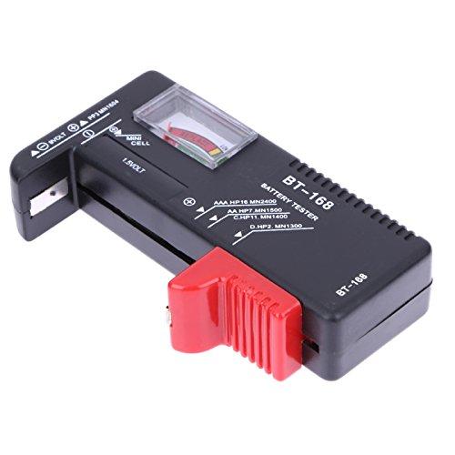 Alwayswe - Comprobador de batería Digital LCD Universal para Pilas AA AAA de 9 V con botón de Encendido, Capacidad de Corriente, medidor de Voltaje, Herramientas de comprobación de batería