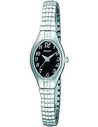 Pulsar Uhren PC3271X9 - Reloj analógico de cuarzo para mujer con correa de acero inoxidable, color plateado