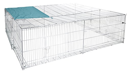 Freigehege 230 x 190 x 76 cm mit Ausbruchsperre Freilaufgehege Kaninchen Hasen Hühner