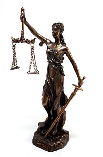 """τhemis Estatua Diosa griega de la dama de la justicia Figura de bronce escultura de justitia acabado 7,87"""""""