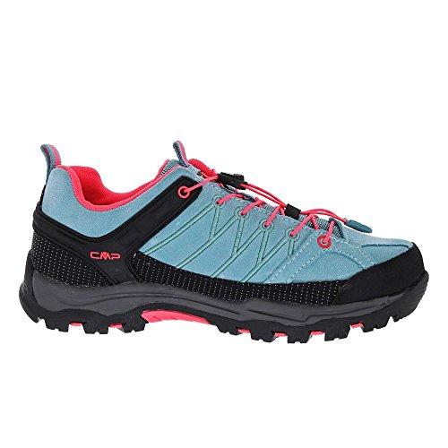 CMP Rigel - Scarpe da Trekking e da Passeggiata Unisex – Adulto Azzurro/rosa