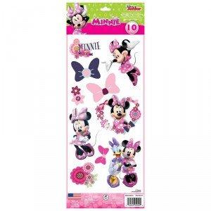 Roommates-Pegatinas reutilizables, diseño de Minnie Mouse () 10 unidades, diseño estilo: infantil para niño